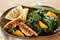 Sesame Orange Greens with Potstickers | Whole Foods Market