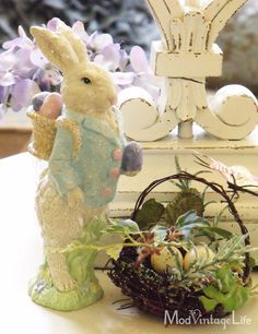 I love pastels for Easter decorations