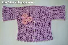 Ravelry: Crochet summer jacket (bolero) for toddler girl pattern by Ksenia Lark (Ksenia Design)