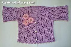 Ravelry: Crochet summer jacket (bolero) for toddler girl pattern by Ksenia Lark (Ksenia Design)