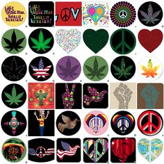 Hippie Peace Love V3.0 Psychedelic Trip Stickers 30//60 Scrapbooking Cardmaking