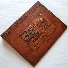 One of a kind refillable handmade journal with distressed Copper & Canvas cover - by ElisCooke - Paper/Books on ArtFire