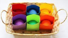 Montessori Monday - Montessori-Inspired Color Activities for Toddlers {Free Printables} - LivingMontessoriNow.com