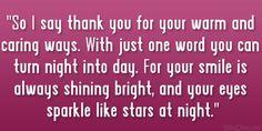 you sparkle :)  So sweet! thanks ^_^