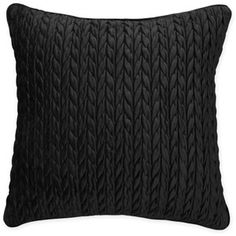 Better Homes and Gardens Cable Plush Decorative Pillow, Black... i like the braided trim...might get for bedroom