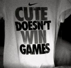 LOL!!! I need to get this T for my vball players...whom spend HRS fixing their hair, putting on MAKE-UP, applying bows in their hair, and spraying perfume...FOR A VBALL GAME!!! SERIOUSLY?!?!?!?