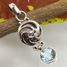 Real BLUE TOPAZ Gemstone Handmade Jewelry Pendant 925 Sterling Silver Wholesale #Unbranded #Pendant