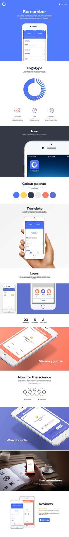 Remember App on Behance