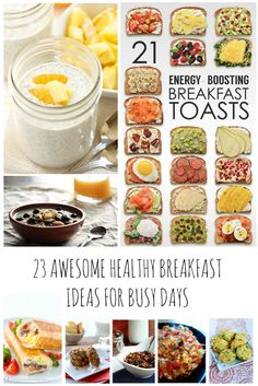 Everyone has busy mornings and the urge to not eat as healthy can be easy. Try these 23 lifestyle busting healthy breakfast recipes to get a flying start.