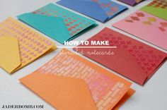 Tutorial | How to Make Stenciled Notecards