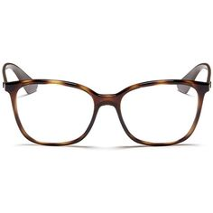 Ray-Ban 'RB7066' tortoiseshell effect acetate optical glasses ($155) ❤ liked on Polyvore featuring accessories, eyewear, eyeglasses, animal print, tortoiseshell eyeglasses, ray ban glasses, ray ban eye glasses, ray ban eyeglasses and tortoise shell glasses
