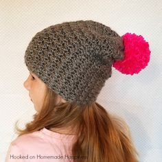 The Charlotte Slouchy Beanie Crochet Pattern is fun & girly! It has a beautiful texture and the perfect amount of slouch.