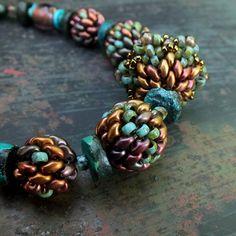 Pastel Charcoal SuperDuo Beads Czech Super duo beads 10g