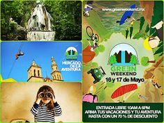 Listos para el #GreenWeekend? Se realiza en el #PuebloMágico de #NuevoLeón este 16 y 17 de Mayo Te gusta la #aventura? No puedes faltar! transportación? #eventos reservaciones@gamatur.com.mx