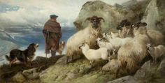 In the Highlands by Richard Ansdell Lytham Art Collection of Fylde Borough Council Date painted: 1865