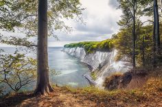 Kollicker Ufer (Nationalpark Jasmund), Rügen, Baum, Buchenwald, Jasmund, Kollick, Kreidefelsen, Ostsee, Steilküste, Strand, Ufer