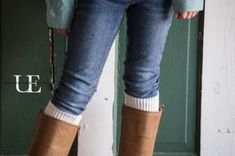 Quick and Easy DIY Boot Socks. Great For Gift Giving--NO SEW and Great Way to add easy, changeable embellishments!