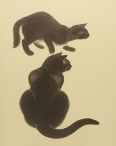Black Cat Wall Decor Hide and Seek by ParagonVintagePrints on Etsy Illustration Art Dessin, Cat Illustrations, Black Cat Art, Black Cats, Cat Art Print, Art Wall Kids, Wall Art, Cat Wall, Vintage Cat
