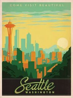 Flyer Goodness: Classic American Travel Posters by the Anderson Design Group #Illustrations-Posters