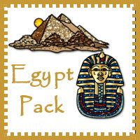 Free Egypt Pack for ages 2 to 8 lots of different types of learning activities from 3Dinosaurs.com