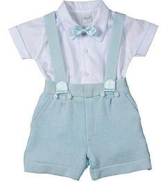 e0097beaa0 Short com suspensório para bebê - DIY- marlene mukai - molde infantil Roupa  De Batismo