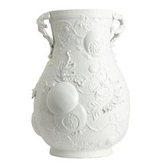 Jean Boggio Summer Palace Large Vase (White Bisque). Biggs Ltd. Gallery. Heirloom quality bridal, art and home decor. 1-800-362-0677. $853.
