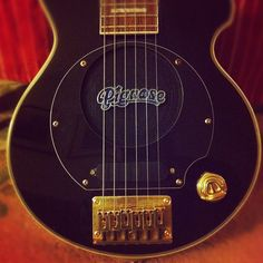 My beloved little electric Pignose guitar with inbuilt speaker... - @akrmurray- #webstagram