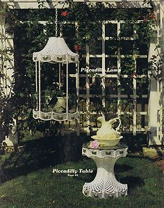 Vintage Macrame Patterns 80s Tables Hanging Planters Novelty Bird Cage Aquarium | eBay