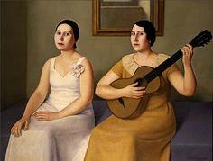 Before the Singing - Antonio Donghi - Magic Realism, 1930 Italian Painters, Italian Artist, Critique D'art, Magic Realism, Paintings I Love, Oil Paintings, Naive Art, Female Portrait, Figure Painting