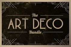 Art Deco Bundle • Save 60% by Tugcu Design Co. on @creativemarket