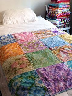 Look What I Made: Vintage Sheet Quilt No.4