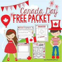 Includes July Handwriting Page Colouring Page Maze Paths and Cryptogram. Kindergarten Social Studies, Kindergarten Activities, Activities For Kids, Crafts For Kids, Preschool, Canada Day Fireworks, Canada Day Crafts, Canada Day Party, Usa Tumblr