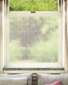 5 Minute makeover: Window quick fix Window Coverings, Window Treatments, Window Panes, Window Glass, Window Art, Glass Doors, Bay Window, Frosted Window Film, Privacy Glass