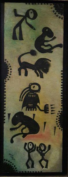 Muerte al Chacal. Oleo por Willan León año 2008