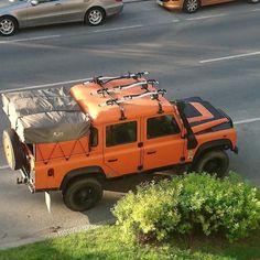 Land Rover Defender DCH Orange.
