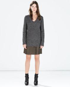 Image 1 of LONG V-NECK SWEATER from Zara