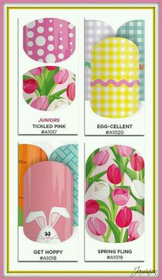 Hoppy Easter Jamberry Nail Wraps!  Www.powers.jamberrynails.net host a facebook party get them for Free!!