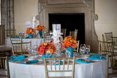 center pieces and table settings