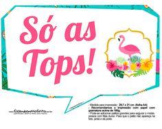 Uau! Veja o que temos para Plaquinhas para Festa Flamingo
