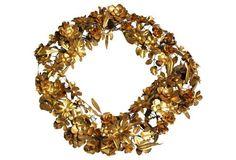 Brass Oval Wreath