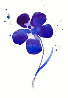 Des fleurs de cerisier d'une fleur mauve : « Mon rêve violet profond »