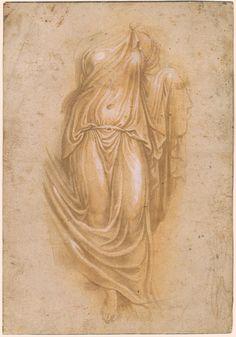 "Attributed to Girolamo da Carpi | Draped Figure, Copy after Farnese ""Flora"" | The Morgan Library & Museum"