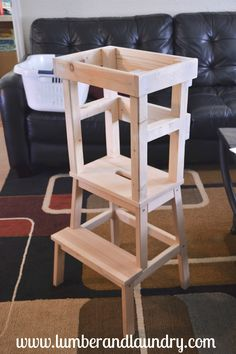 Lumber and Laundry Post - Ikea Bekvam Learning Tower