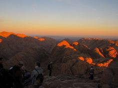 ✔️Mt Sinai Sunrise, camel ride from bottom to the top, 2.30am start. A magical memory.