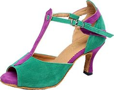 Salabobo QQQ6212 Womens Wedding Party Tango Peep Toe Mid Heel Scrub TStrap Dance Shoes Green US 75 *** You can get more details by clicking on the image.(This is an Amazon affiliate link and I receive a commission for the sales)