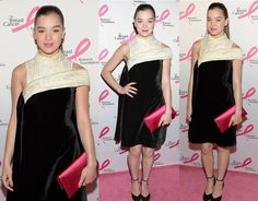 Pink hottie Hailee Steinfeld arrived in style for the Breast Cancer Research Foundation's 2014 Hot Pink Party on Monday in New York City.