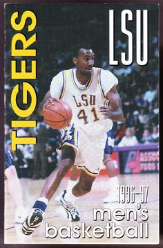 1996-97 LSU LOUISIANA COKE MCDONALDS MENS BASKETBALL POCKET SCHEDULE FREE SHIP