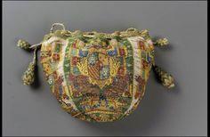 Drawstring bag, French 1700-1750