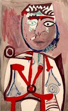 Pablo Picasso. Personage, 1970.