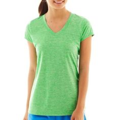 Xersion™ Short-Sleeve Melange Tee  found at @JCPenney